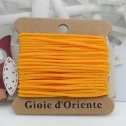 Filo cordino ritorto 3 capi intrecciati arancione chiaro spessore 1.5 mm 5MT per le tue creazioni n 29