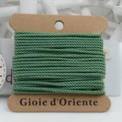 Filo cordino ritorto 3 capi intrecciati verde salvia spessore 1.5 mm 5MT per le tue creazioni n 30