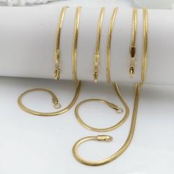 Collana Snake in acciaio colore oro diverse misure e spessore per le tue creazioni alla moda!!!