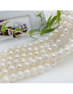 perle di fiume acqua dolce forme rotonda 7 x 8 mm 53 pz per le tue creazione