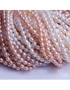 perle acqua dolce Chicchi di Riso 4 x 6 mm colore naturale per tuoi gioielli