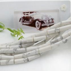 Pietre dure aulite forma cilindro liscio 14 x 4 mm 40 cm filo circa 28 pz per le tue creazioni!!!