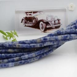 Pietre dure sodalite forma cilindro liscio 14 x 4 mm 40 cm filo circa 28 pz per le tue creazioni!!!