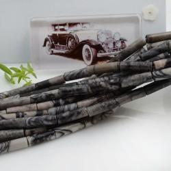 Pietre dure agata forma cilindro liscio 14 x 4 mm 40 cm filo circa 28 pz per le tue creazioni!!!