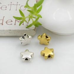 Distanziatori Perline piatto 7.5 mm 12 pz a forma di fiorellino in metallo per bigiotteria per le tue creazioni!