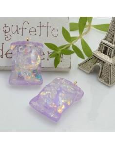 Ciondolo Caramella Dolcetti con scritta Sweet colore lilla in resina 28 x 18 mm 2 pz per le tue creazioni alla moda!!