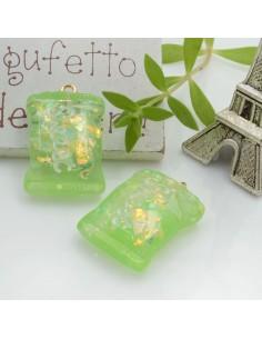 Ciondolo Caramella Dolcetti con scritta Sweet colore verde in resina 28 x 18 mm 2 pz per le tue creazioni alla moda!!