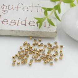 Schiaccini in acciaio color oro 2 mm 20 pz per le tue creazioni fai da te!!