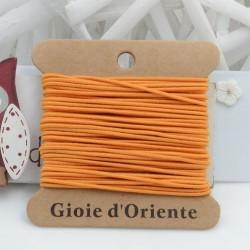 Filo Elastico colore arancione chiaro diversi spessori 5MT per le tue creazioni!!