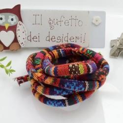 Cordino Etnico multicolore di cotone colore mix n 05 spessore 7 mm 1 MT per le tue creazioni alla moda!!