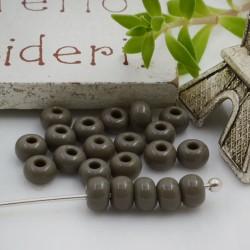 Perline di vetro forma rondella 3 x 4 mm 70 pz foro 1.3 mm colore grigio per le tue creazioni alla moda!!