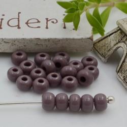 Perline di vetro forma rondella 3 x 4 mm 70 pz foro 1.3 mm colore lilla per le tue creazioni alla moda!!