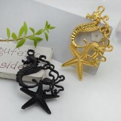 Ciondolo cavalluccio marino stella marina e polipo in zama 54 x 32 mm 1 pz per i tuoi gioielli alla moda!