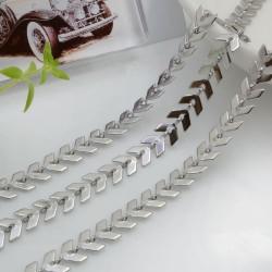 Catena spina di pesce in acciaio inossidabile colore argento 6.5 mm 1 mt per le tue creazioni!!