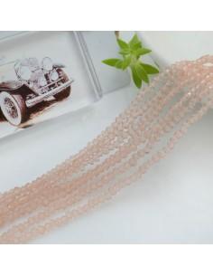 filo di cristalli sfaccettati cipollotti rondelle Rosa antico 1.5 x 2.5 mm circa 180 pz per tuoi gioielli