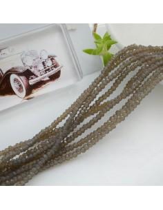 filo di cristalli sfaccettati cipollotti rondelle Grigio 1.5 x 2.5 mm circa 180 pz per tuoi gioielli