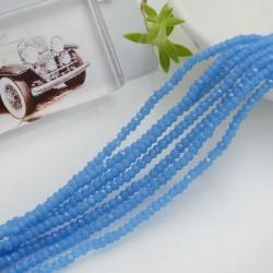 filo di cristalli sfaccettati cipollotti rondelle Turchese 1.5 x 2.5 mm circa 180 pz per tuoi gioielli