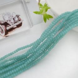 filo di cristalli sfaccettati cipollotti rondelle Tiffany 1.5 x 2.5 mm circa 180 pz per tuoi gioielli