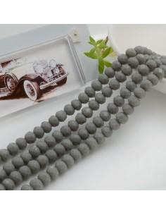 Filo mezzo cristallo Rondelle Cipollotti 4 x 6 mm briolette col grigio 90 pz per le tue creazioni!!
