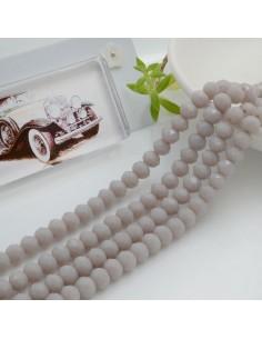 Filo mezzo cristallo Rondelle Cipollotti 4 x 6 mm briolette col lilla chiaro 90 pz per le tue creazioni!!