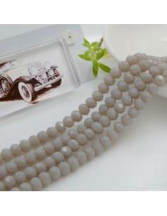 Filo mezzo cristallo Rondelle Cipollotti 4 x 6 mm briolette col grigio chiaro 90 pz per le tue creazioni!!