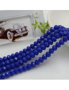 Filo mezzo cristallo Rondelle Cipollotti 4 x 6 mm briolette col blu 90 pz per le tue creazioni!!