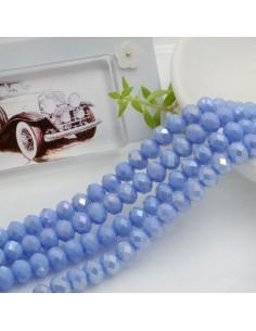 Filo mezzo cristallo Rondelle Cipollotti 4 x 6 mm briolette col cielo AB 90 pz per le tue creazioni!!