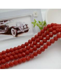 Filo mezzo cristallo Rondelle Cipollotti 4 x 6 mm briolette col rosso 90 pz per le tue creazioni!!