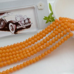 Filo mezzo cristallo Rondelle Cipollotti colore senape chiaro 3x4 mm briolette 125 a 145pz per le tue creazioni