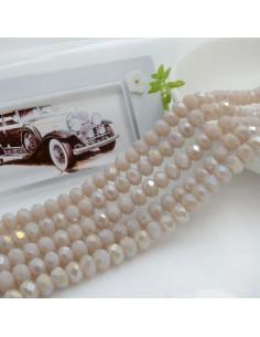Filo mezzo cristallo Rondelle Cipollotti 4 x 6 mm briolette col cipria AB 90 pz per le tue creazioni!!