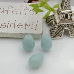 Goccia sfaccettata pietre amazzonite 12 x 8 mm 1 pz per le tue creazioni!!
