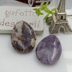 Goccia liscia pietra ametista 30 x 22 mm 1 pz per le tue creazioni!!