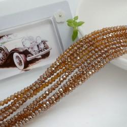 filo cristalli 2 x 3 mm colore caramello AB sfaccettato e briolette 200 pz per le tue creazioni