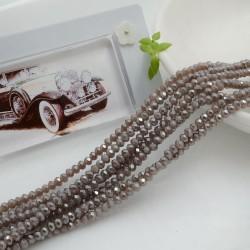 filo cristalli 2 x 3 mm colore cammello chiaro AB sfaccettato e briolette 200 pz per le tue creazioni