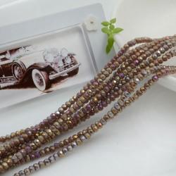 filo cristalli 2 x 3 mm colore lilla AB sfaccettato e briolette 200 pz per le tue creazioni