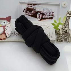 Fettuccia elastica tubolare elastica in Lycra colore nero 0.5mm confezione 1 mt
