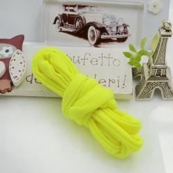 Fettuccia elastica tubolare elastica in Lycra colore giallo fluo 0.5mm confezione 1 mt