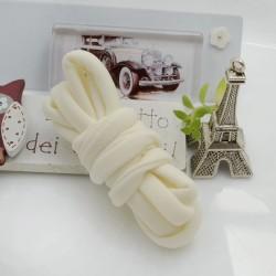 Fettuccia elastica tubolare elastica in Lycra colore panna 0.5mm confezione 1 mt