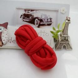 Fettuccia elastica tubolare elastica in Lycra colore rosso 0.5mm confezione 1 mt