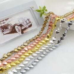 Perle ematite distanziatore forma cuore liscio 6 mm filo 40 cm circa 80 pz di diversi colori per le tue creazioni!!
