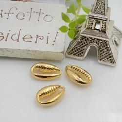 CONNETTORI conchiglia in ottone oro 13 x 8.5 mm 2 pz idea collana, bracciale e cavigliera per le tue creazioni!!