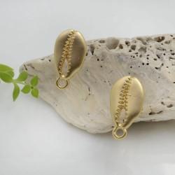 Base Orecchini a perno in zama a forma di conchiglia 20 x 10.5 mm con farfalle in silicone per orecchini alla moda!!