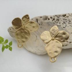 Base Orecchini a perno in zama a forma di fiore 28.5 x 22 mm con farfalle in silicone per orecchini alla moda!!