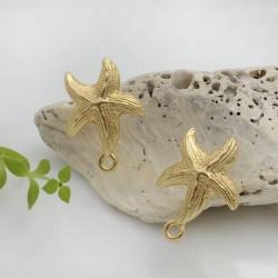 Base Orecchini a perno in zama a forma di stella marina 22 x 17 mm con farfalle in silicone per orecchini alla moda!!