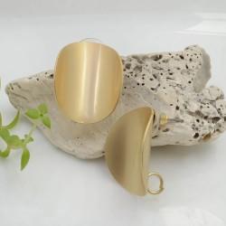 Base Orecchini a perno in zama oro ovale ondulato con gancio 25 x 20 mm per orecchini alla moda!!