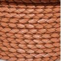 Cordoncino di Cuoio Intrecciato 3mm marrone chiaro 1 mt fai da te