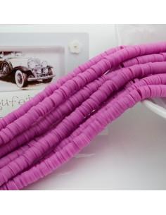 fili Rondelle Pasta Polimerica col lilla rosa 1 x 6 mm 39/40 cm Polimero Perline Heishi per le tue creazione