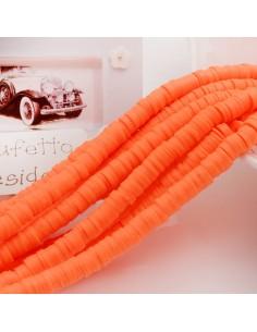 fili Rondelle Pasta Polimerica col arancione 1 x 6 mm 39/40 cm Polimero Perline Heishi per le tue creazione