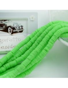 fili Rondelle Pasta Polimerica col verde chiaro 1 x 6 mm 39/40 cm Polimero Perline Heishi per le tue creazione