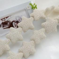 filo stelle di lava colore bianco 26 mm 18 pz per gioielli per le tue creazioni